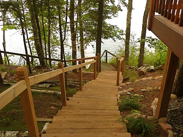 Stairwell to Lake for Wood Duck