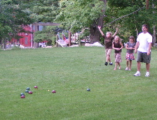 The Glasrud Family enjoying Bocce Ball