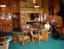The Scharts in Captains Cabin Honor Bar
