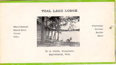 Teal Lake Lodge 1923 Brochure - Front