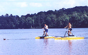 The boats without motors are fun - there are rowboats canoes sailboat and hydro-bikes.